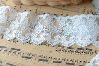 High quality diy manual accessories cotton lace fabric off white lace trim 5cm Wide