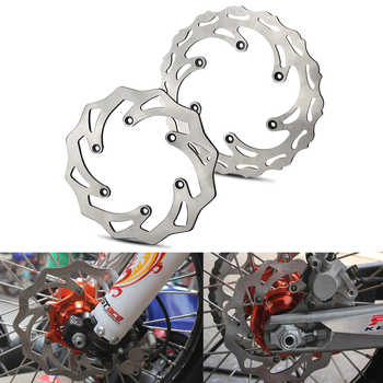 260/220 Front Rear Steel Brake Discs Rotors For KTM 125 200 250 300 390 400 500 505 525 530 SX SXF EXC EXCF XC XCW XCF XCFW - DISCOUNT ITEM  10% OFF All Category