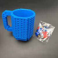 Fashion Creative Five Color DIY Building Blocks Assembled Cups Fun Practical Coffee Mugs Assembled Building Cups