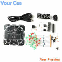 Rotating DS1302 Digital LED Display Module Alarm Electronic Digital Clock LED Temperature Display DIY Kit Learning Board 5V New