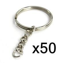 Брелок раздельный металлический 50 шт брелки с открытым соединительным