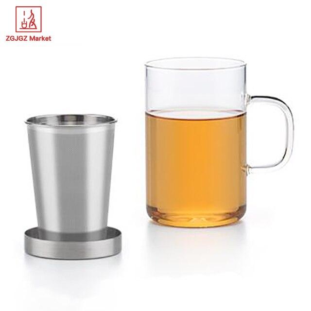 Teetassen Glas samadoyo dual zweck glas tasse set 500 ml teetasse becher
