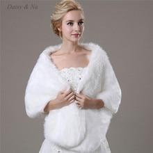 Daisy & Na Charming Women's Bridal Shawl Faux Fur Shrug Wedding Accessories 009