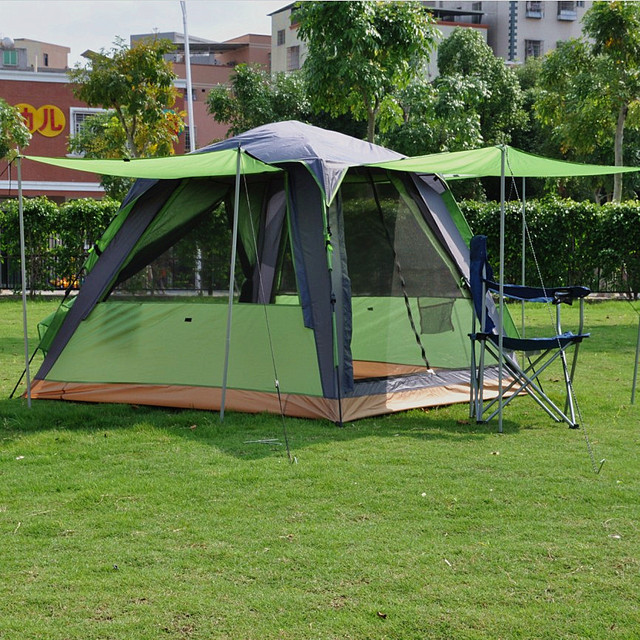 Alltel genuine c&ing double layer 3-4 people square top outdoor tent & Alltel genuine camping double layer 3 4 people square top outdoor ...