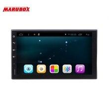 """Универсальная автомагнитола 2 DIN на Android 6.0.1,MARUBOX 7А705R16, Головное устройство 2din, четырёхядерный процессор R16 CorteX A7 1.2 ГГц,Разрешение 1024х600 """",Radio,GPS,USB,BlueTooth,3G,Поддержка кнопок на руле"""