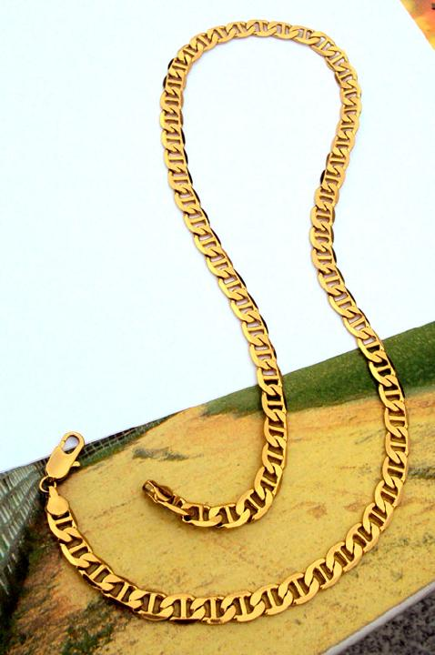 Jewelry & Accessories Solid Stamep 585 Hallmarked 18 K Yellow Fine Gold Gf Figaro Chain Link Necklace Lengths 8mm Italian Link 24 To Reduce Body Weight And Prolong Life
