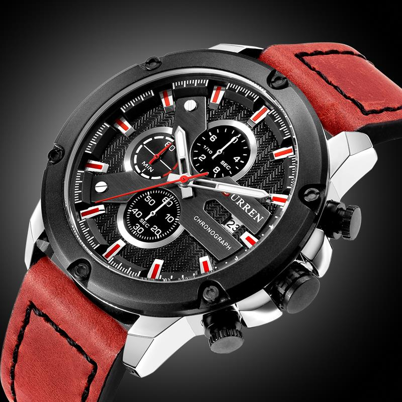 2018 Top Brand Luxury CURREN 8308 New Fashion&Casual Simple Men Business Watches Classic Dial Stainless Steel Quartz Men Watch curren men s fashion casual simple canvas cool quartz sports watches