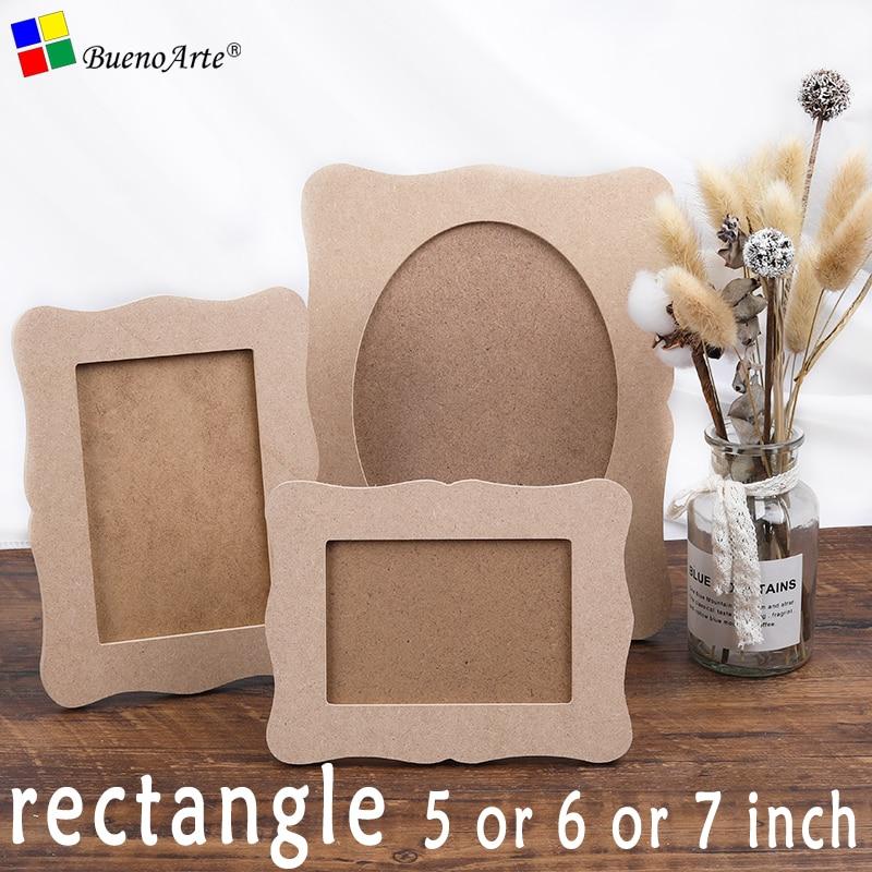 "5PCS 5"" 6"" 7"" rectangle photo frame wood base,diy mosaic base hand craft 5 inch or 6 inch or 7 inch"