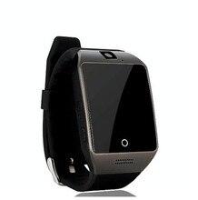 Neue mode bluetooth smart watch mit kamera facebooks twitter smartwatch unterstützung sim tf karte für apple ios android-handy