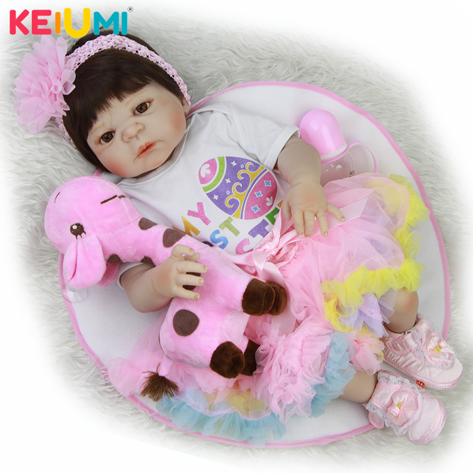 Fashion 23 Inch Reborn Baby Girl Dolls Full Body Silicone Vinyl Lovely Cute 57 cm Princess