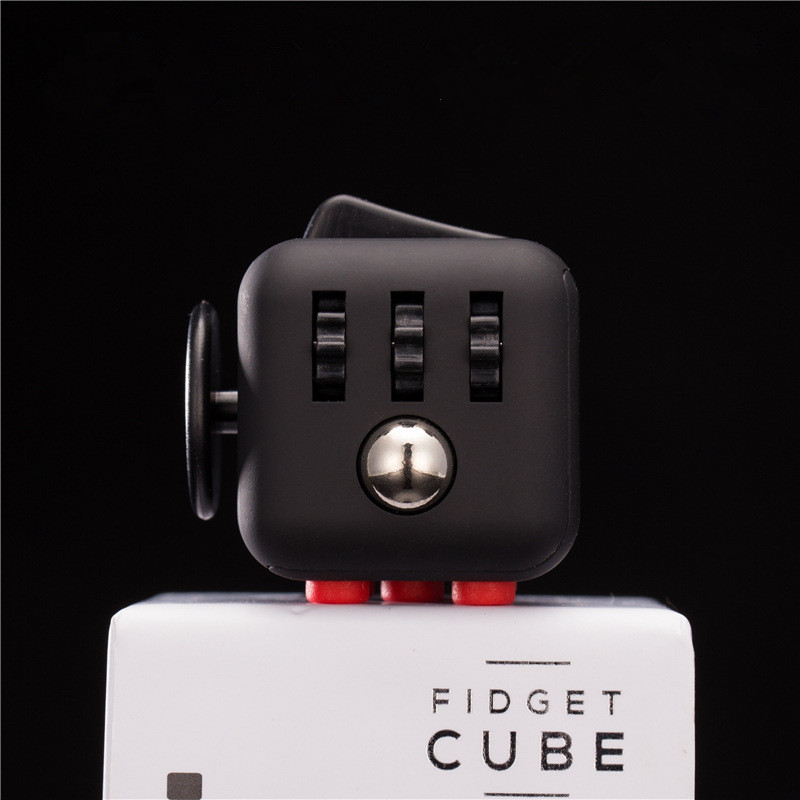 Hot Fidget Cube Toys Squeeze Fun Stress Reliever Fidget Toys Puzzle Magic Cube Toys Stress Cube Come With Box 9 types squeeze stress reliever fidget cube pc vinyl fidgetcube game toy kickstarter fidget toys for girl boys christmas gifts