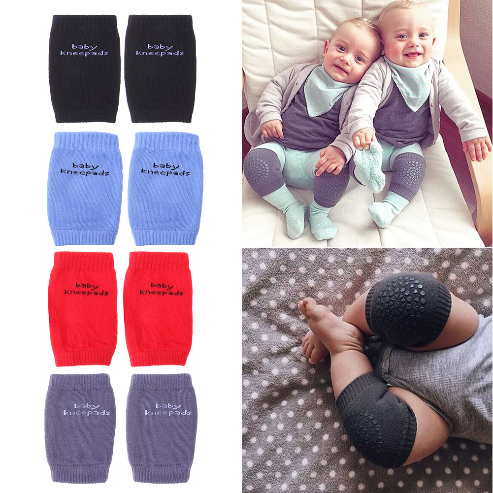1 pair Cotton Baby Knee Pads Kids Anti Slip Crawl Necessary Knee Leg Warmer Knee Support ...