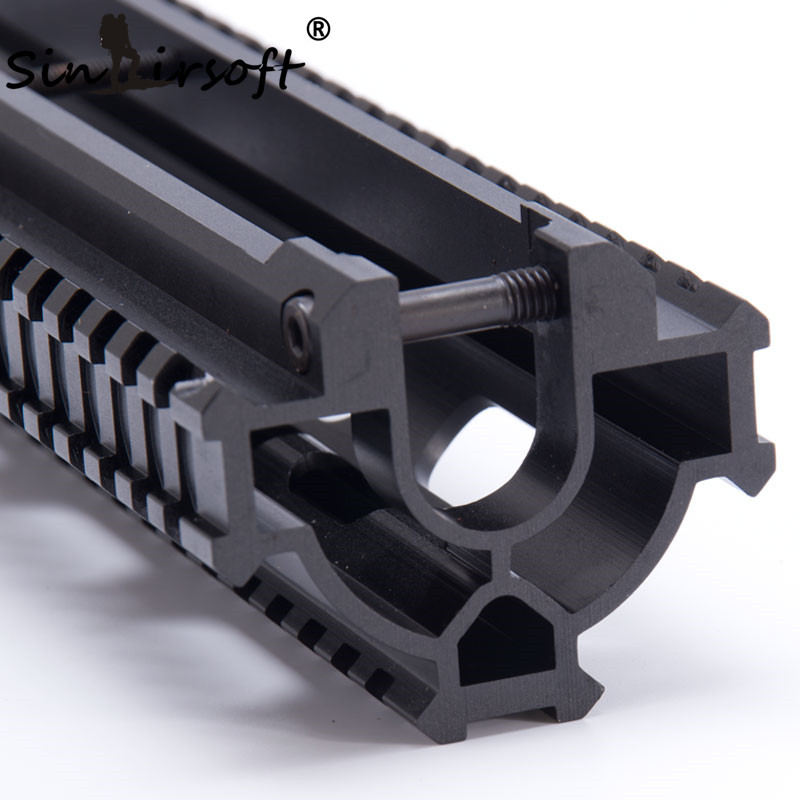 SINAIRSOFT One-Piece Tactical Tri-Rail Handguard Rail Scope Mount System For HK G3, 91, PTR-91  and Compatibles MNT-TG3TR-2