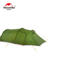 Naturehike Ultralight Opalus Tunnel Tent for 3 Persons 20D/210T Fabric Camping with free footprint NH17L001-L