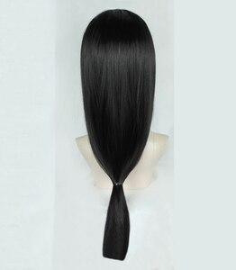 Image 3 - Anime Naruto Uchiha Itachi 60cm Long Black Styled OW Hanzo Shimada Heat Resistant Hair Cosplay Costume Wig + Free Wig Cap