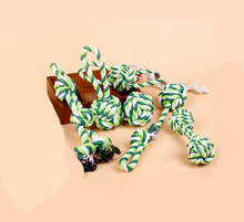 Cotton Rope Toy Dog Pet Large Dog Bite Resistant Ball Teddy Dog Molar Tooth Cleaning Cotton Rope Ball Dogs Training Ball