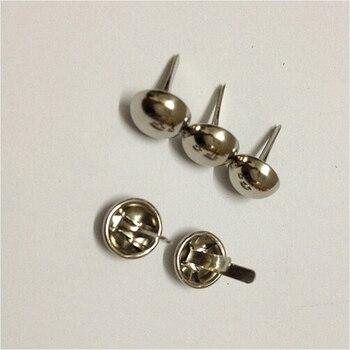 15mm Dia. Silver Purse Rivet Nickel Round Feet  Spikes Metal Rivet Buttons Bag Feet 1000pcs/lot