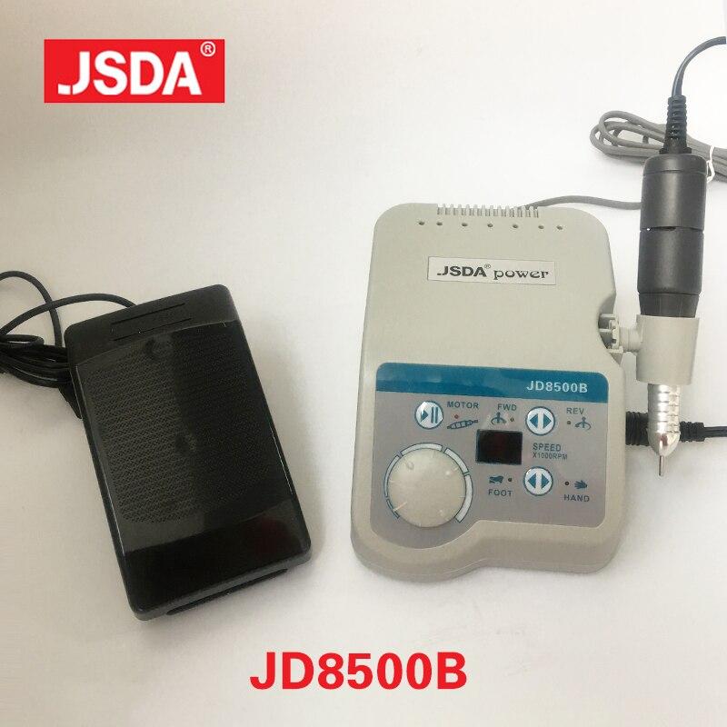 Réel JSDA JD8500B 65 w 35000 rpm professionnels Électrique Nail Perceuses Machine Manucure outil Pédicure Ongles Art Matériel Lcd Affichage