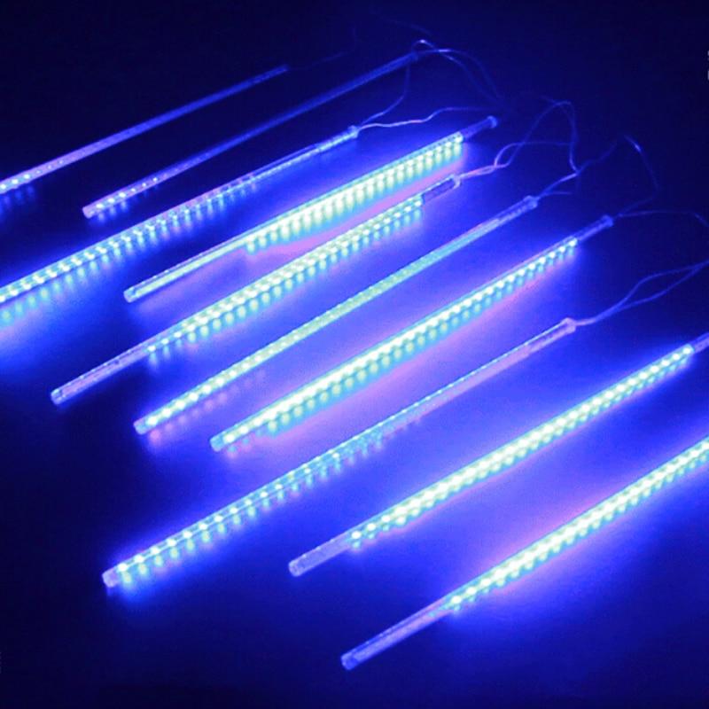 led string lights multicolor meteor shower rain tubes wedding party garden xmas string light christmas lights ac100240v