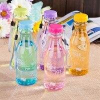 BPA DARMO plastikowa butelka wody soda POP mleka sok butelka z liny, przenośne szczelne matowe butelki