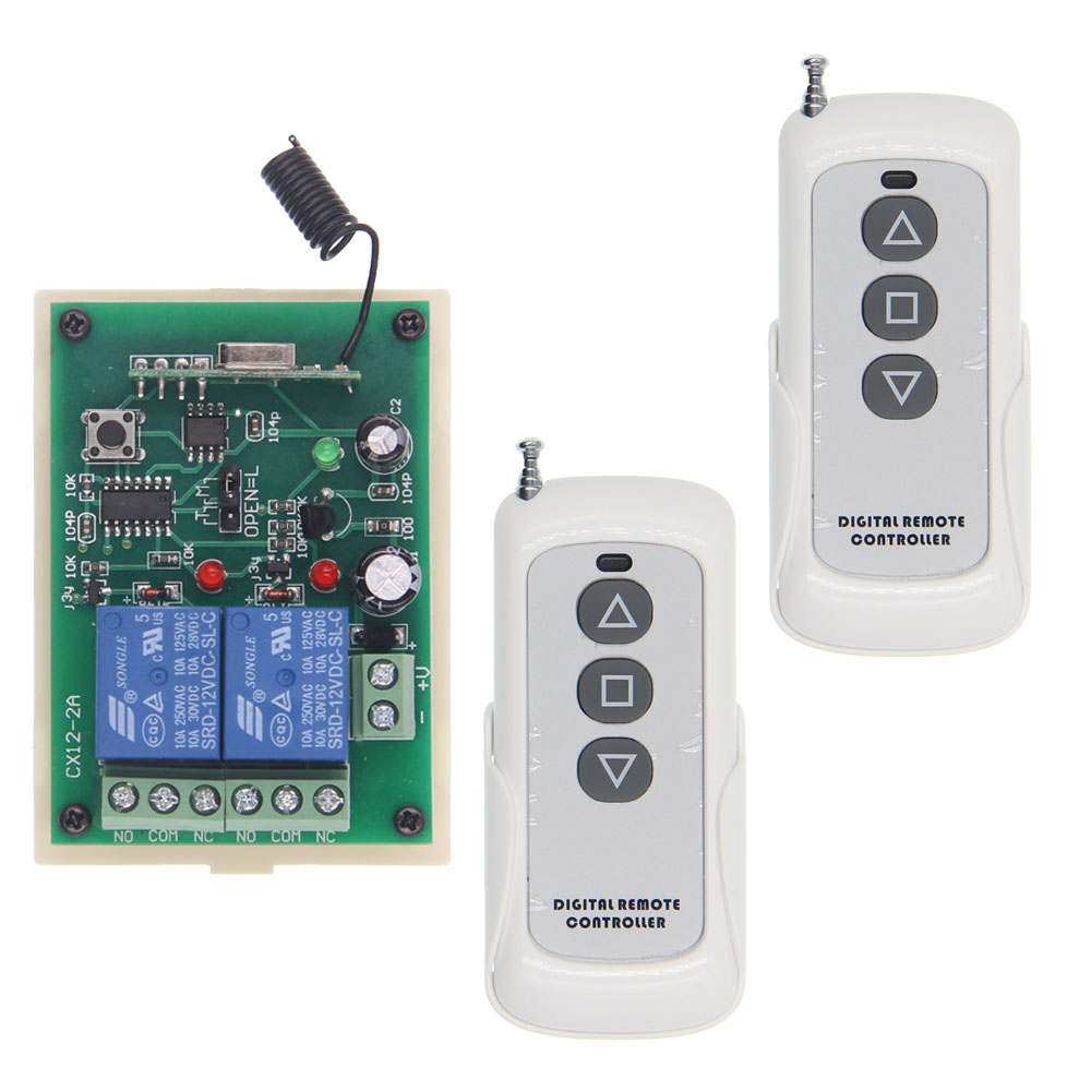 DC 12V 24V Remote Control Switch Motor Reversing Controller Output Intelligent Device UP Down Screen Window Curtains