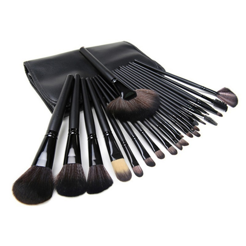 Hot New Professional 24 pcs Makeup Brush Set tools Make-up Toiletry Kit Wool Brand Make Up Brush Set Case Cosmetic brush new professional 15 pcs makeup brushes set tools make up toiletry kit make up brush set case cosmetic foundation brush