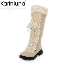 En gros 2017 Nouvelle Mode Chaude sexy dames Plate-Forme Bottes Femmes Genou Haute bottes d'hiver femmes chaussures fourrure bottes de neige chaude