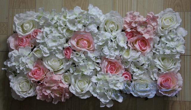 White Light Pink 10pcs Lot Artificial Silk Rose Flower Wall Wedding Background Lawn Pillar