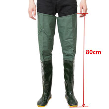 80cm Height Fishing Waders Boot Thicken PVC Material Soft Sole Confortable Fishing Wader Unisex Multi-purpose Fishing Wader Boot