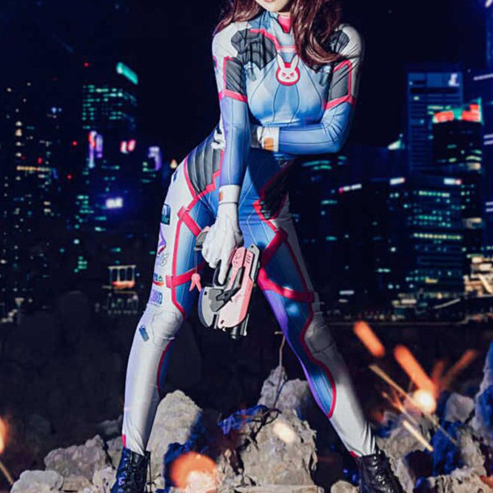 halloween costumes for women plus size Overwatchs cosplay d va dva d va Zentai Spandex Bodysuit