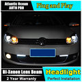 АВТО. PRO 2009-2013 Для vw golf 6 ксеноновые фары стайлинга автомобилей bi xenon объектив 15 led DRL для vw golf mk6 фар H7 парковка