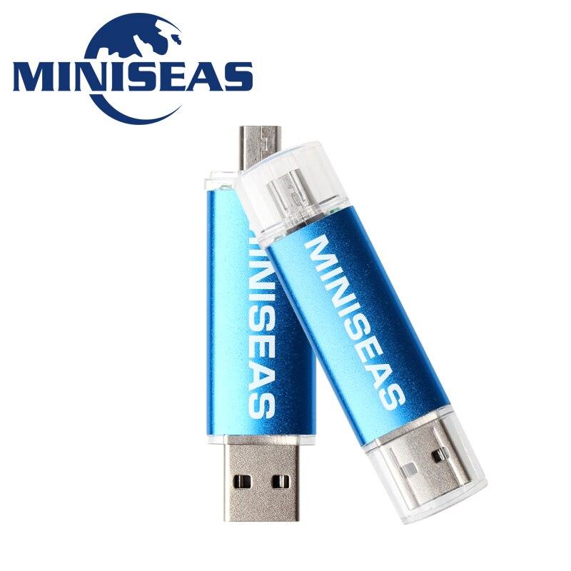 Miniseas unidad Flash Usb de 9 colores OTG teléfono Pen Drive 8 GB 4 GB Pendrive 32 GB 64 GB 16 GB de memoria Usb Flash Drive
