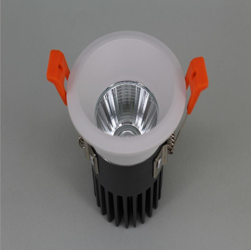Затемнения светодиодные светильники удара потолка прожектор 12 Вт потолочные встраиваемые огни Теплый Холодный белый Освещение в помещени...