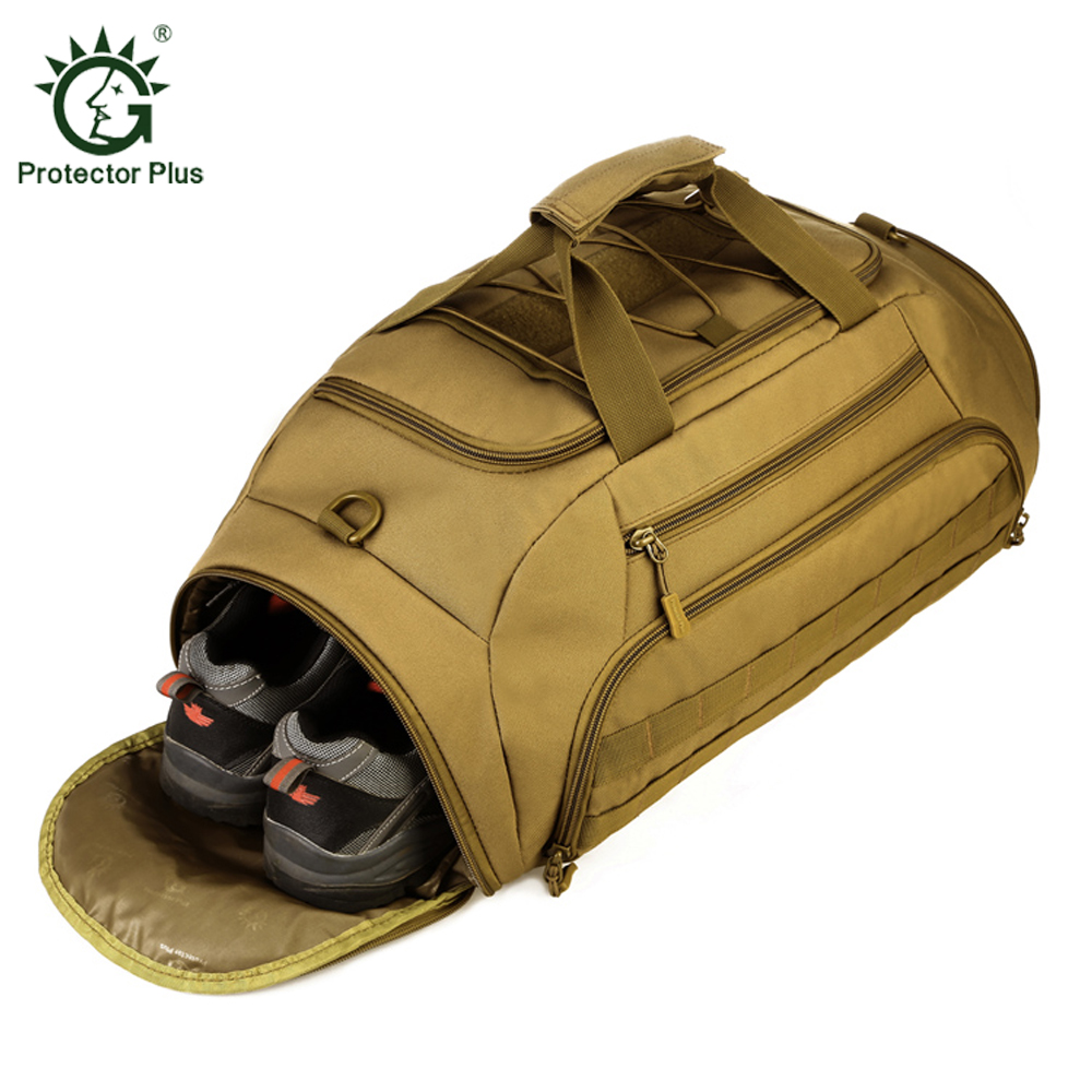 Protector Plus Travel Bag Large Capacity Men Hand Luggage Travel Duffle Bags 1000D Nylon Hiking Bags Multifunctional Backpack