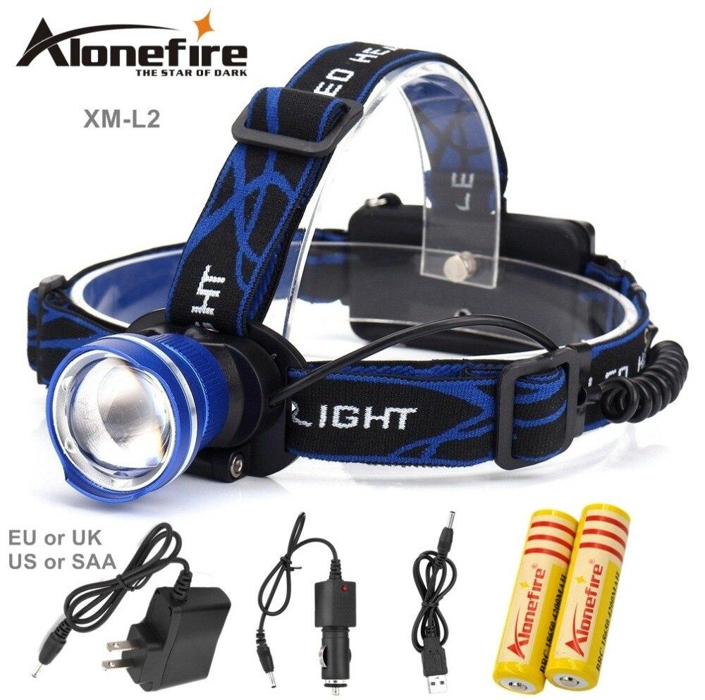 AloneFire HP87 Scheinwerfer Cree XM-L T6 L2 U3 LED 5000lm Zoom Kopf lampe Wasserdichte Kopf licht Scheinwerfer Wiederaufladbare 18650 batterie