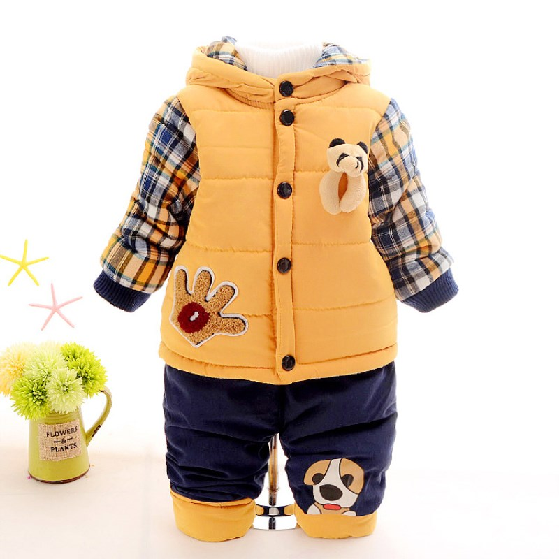New 2017 Baby boys winter clothing suit set warm down jacket+pants long sleeve coat kis clothing set fashion clothes 12M-3years winter children baby down jacket set long sleeve down coat pants set boys girls baby winter warm coat trouser suit