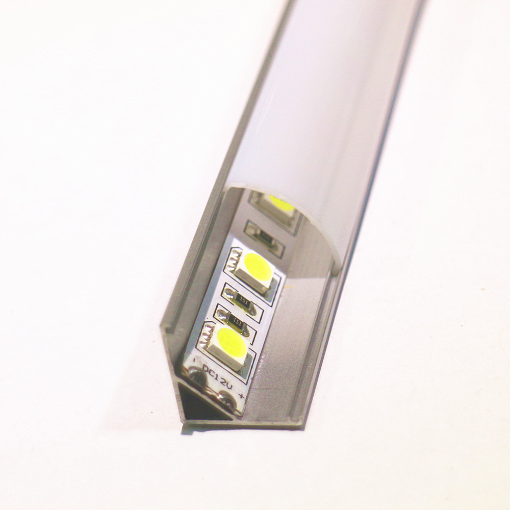 10-20pcs DHL1m led strip aluminum profile for 10mm pcb 5050 5630 led strip housing aluminum channel with cover end cap and clips