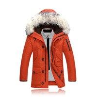 2018 парки Для мужчин s куртки теплые дышащие пальто Мужское пальто Для мужчин s брендовая одежда зима Для мужчин толстые пальто с капюшоном