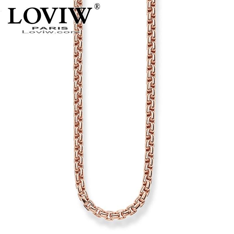 100% Wahr Kette Markante Rose Gold Farbe Trendy Geschenk Für Frauen Thomas Sabor Stil Neue Mode Europäischen Rose-gold Heißer Schmuck Zubehör Exquisite (In) Verarbeitung