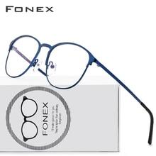 チタン超軽いメガネフレーム、ブランドデザイナー新発売のレトロなラウンド処方メガネ、フルフレームメガネ