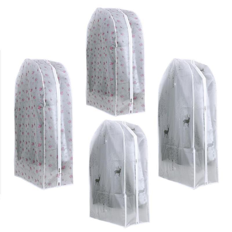 Шкаф Сумки для хранения прозрачный Животные печатных платье одежда пальто одежды костюм пылезащитный Чехлы для мангала дома молния протек...