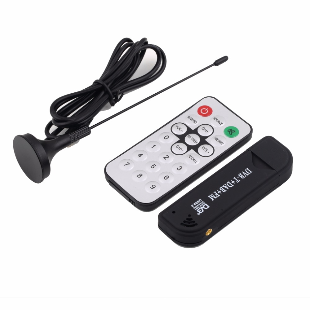 Hot Promotion Super Digital RTL2832U+R820T TV Tuner Receiver with antenna for PC for Laptop Support SDR Wholesale