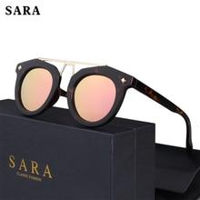 SARA Vogue Women's Cat Eye Polarized Sunglasses Brand Designer Ladies Leopard Frames Sunglasses Retro Glasses Oculos UV400 1609