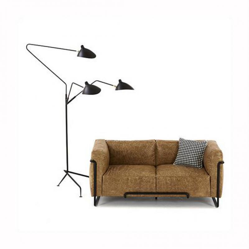 100 serge mouille 1 3 arms floor lamp iron lampshade Serge mouille three arm floor lamp