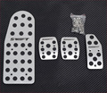 For Suzuki Swift 2006-2012 New Sport Aluminium Foot Pedal Rest Plate Speed Brake Foot Rest Plates Pedals Pads  MT