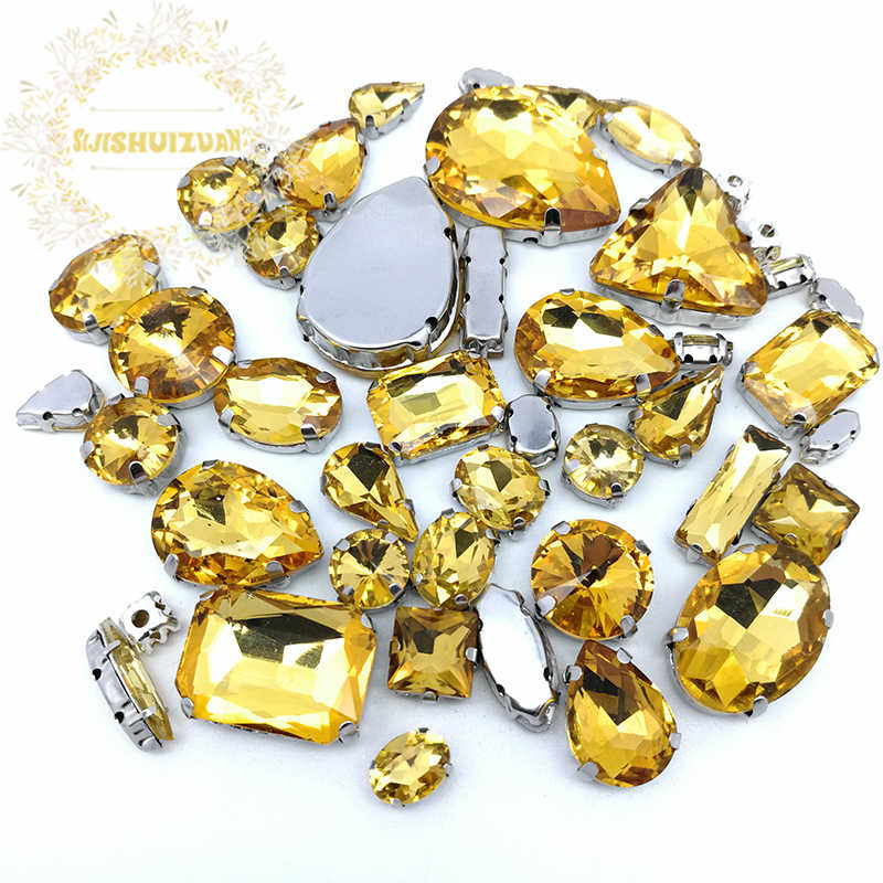 867106cba1 Detail Feedback Questions about 52pcs 23sizes 10shapes MIX Golden ...