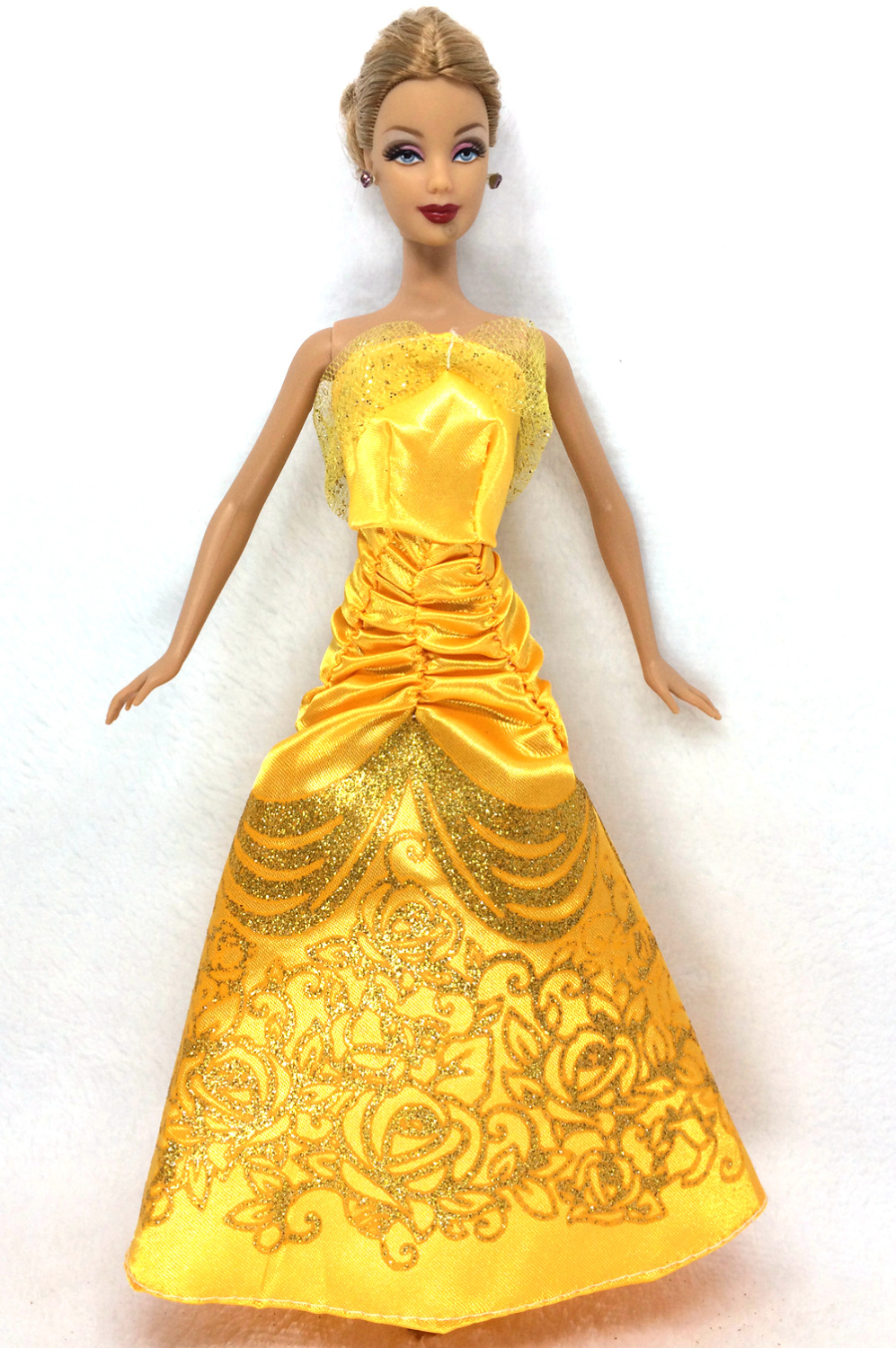 NK One Set Doll Costume Related Fairy Story Princess Belle Doll Wedding ceremony Costume  Robe Celebration Outfit For Barbie Doll Finest Ladies' Reward