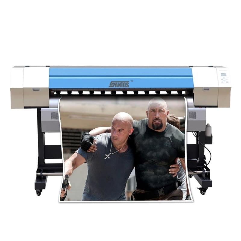 1.8 m/6ft Éco Solvant Couleur Imprimante Grand Format Petite Bannière Imprimante Bannière De Vinyle Autocollant PVC film Photpaper Impression machine