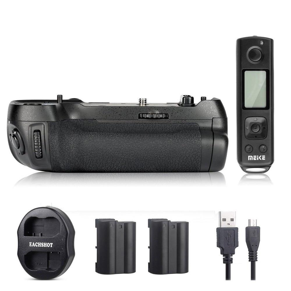 Meike MK-D850 Pro Aperto Da Bateria com 2.4G Controle Remoto Sem Fio para Nikon Bateria D850 Como MB-D18 2 * EN-EL15 + USB carregador Duplo