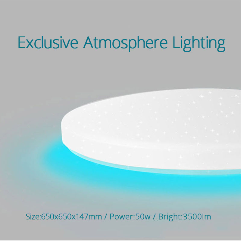 Image 3 - Xiaomi Yeelight Led ceiling Pro 650mm RGB 50W Mi home app control Google home For amazon Echo For xiaomi smart home kits-in Smart Remote Control from Consumer Electronics